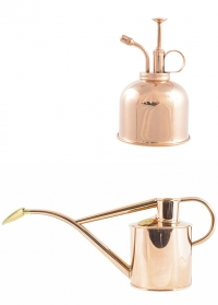 Английская лейка и опрыскиватель для цветов от HAWS Rowley Ripple Copper & Copper фото