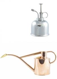 Подарочный набор английская лейка и опрыскиватель от HAWS Copper Rowley Ripple & Nickel Smethwick Spritzer фото
