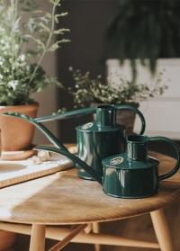 Английская металлическая лейка для цветов 1 л. от HAWS The Fazeley Flow Green фото