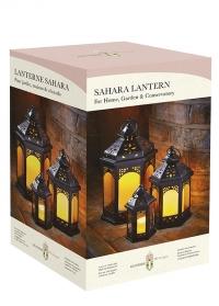 Набор подсвечников-фонарей 3 шт. Sahara Lanterns Trio британского бренда Smart Garden фото