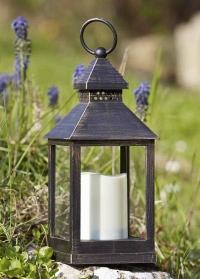 Декоративный винтажный  фонарь со светодиодной свечой для дома и сада Kentish Smart Garden фото