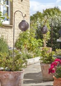 Металлические садовые фонари на солнечной батарее с держателем Forli Smart Garden фото
