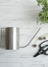 Стильная лейка из нержавеющей стали для полива комнатных цветов Цилиндр 1.3 л. TG296 Esschert Design фото