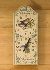 Часы - термометр настенные с птичками Birdberry от Smart Garden (Великобритания) фото