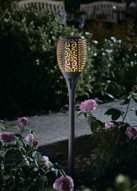Садовый фонарь на солнечной батарее Факел Torch Slate Smart Garden фото