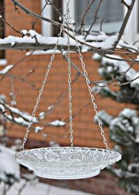 Кормушка для птиц стеклянная Тарелка для дачи и сада  FB309 Esschert Design фото
