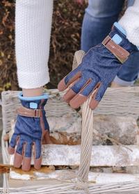 Перчатки садовые женские из джинсовой ткани Denim Burgon & Ball GLO/DENIM фото
