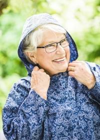 Плащ дождевик женский с капюшоном RS12ONE GardenGirl Denim фото.jpg