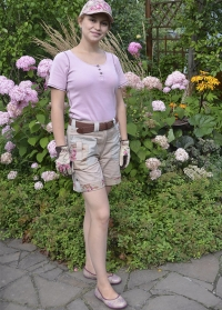 Садовая мода дачные шорты GardenGirl Classic Collection фото.jpg