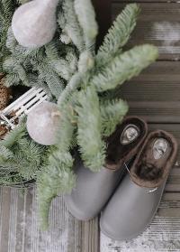 Галоши садовые из эва с теплой подкладкой из флиса Grey Oslo AJS-Blackfox фото
