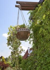 Подвесное кашпо для уличных растений металлическое с кокосовой вставкой Aged Metal от Esschert Design фото