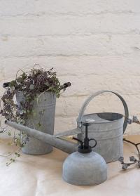 Лейка садовая из оцинкованного металла для полива растений W2023 Esschert Design фото
