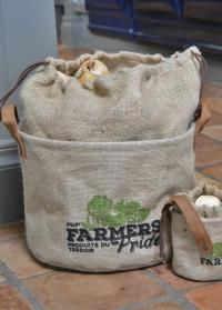 Сумка из джута с ручками для хранения лука «Фермер» Esschert Design FP026 фото