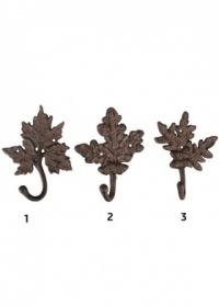 Крючки настенные декоративные из чугуна Листья LH94 Esschert Design фото