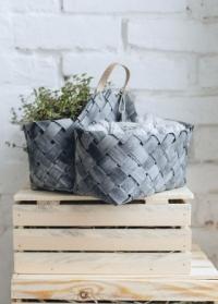 Корзина плетеная из шпона в скандинавском стиле Elma Lene Bjerre фото
