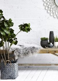 Плетеные декоративные корзины в скандинавском стиле Lene Bjerre для дома и сада фото