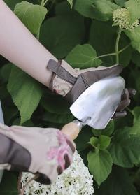 Перчатки кожаные для сада огорода GarenGirl Classic Collection фото