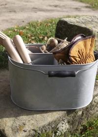Оцинкованное ведро для хранения и переноски садовых инструментов OZ28 Esschert Design фото