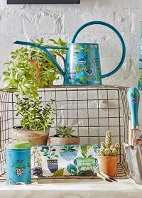 Металлическая дизайнерская лейка с принтом для полива комнатных растений Brie Harrison Burgon & Ball фото