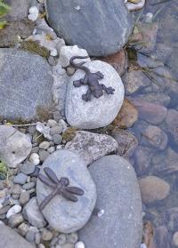 Декоративные фигурки стрекозы и ящерицы на камнях Esschert Design TT153 фото