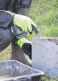 Подарок мужчине для дачи и сада  перчатки защитные для строительства и садоводства Isomax AJS Blackfox фото