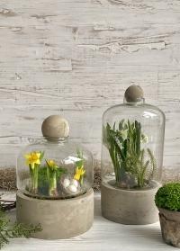 Форма для флорариума для растений на керамическом поддоне AGG43 Esschert Design фото