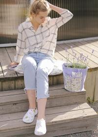 Галоши из эва женские белые Lavender Garden от Briers (Великобритания) картинка
