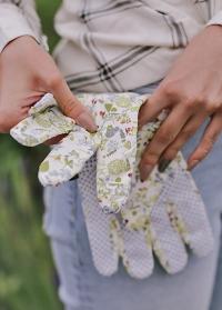 Перчатки для сада огорода из хлопка с пупырышками Lavender Garden Briers B8697 фото.jpg