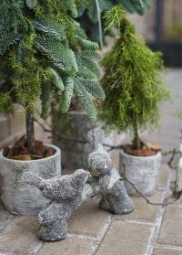 Садовая керамическая фигурка Птички на ветке Aged Ceramic AC168 Esschert Design фото