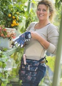 Кожаные перчатки для сада и огорода GardenGirl Classic Navy фото