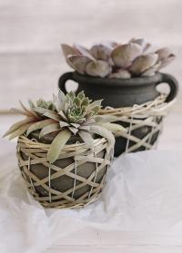 Керамическое кашпо для цветов - амфора в греческом стиле Lene Bjerre фото.jpg