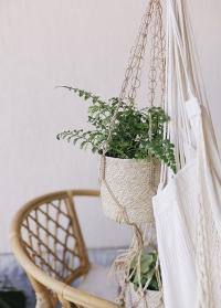 Подвесное кашпо для цветов плетеное джутовое Munesia Lene Bjerre фото