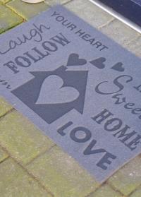 Придверный коврик на резиновой основе «Love» Esschert Design 1.jpg