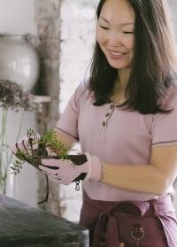 Перчатки для флориста из искусственной кожи GardenGirl RH11 фото_1.jpg