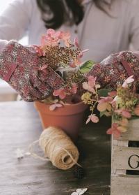 Набор флористических перчаток из хлопка с пупырышками Vintage Floral Briers фото.jpg