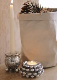 Подсвечник в скандинавском стиле для высокой свечи датского бренда Lene Bjerre фото