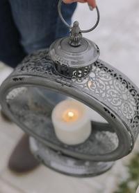 Свечной фонарь старинный Grey Esschert Design фото.jpg