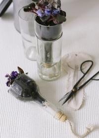 Стеклянный мини горшок стеклянный с поливом AGG46 Esschert Design фото.jpg