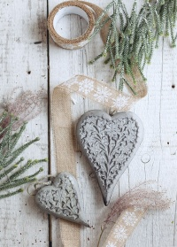 Подвеска новогодняя деревянная сердце Carola Lene Bjerre фото