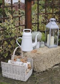Голландская садовая лейка в форме винтажного кофейника для полива цветов Lungo Light Grey Xala фото