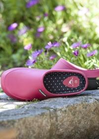 Красивые женские сабо из эва для дома и сада Fuchsia Mellow французского бренда AJS Blackfox фото