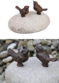 Декоративные фигурки птичек из чугуна на камнях TT169 Esschert Design фото
