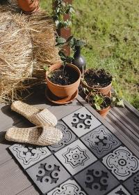 Резиновый входной коврик Mosaic RB178 Esschert Design фото