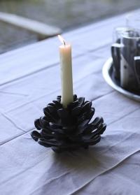 Декоративный подсвечник в форме Шишки для высокой свечи Esschert Design XM61 фото