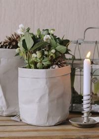 Эко-мешок - кашпо для посадки цветов 20 см Caia Grey Lene Bjerre фото