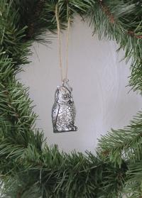 Новогоднее елочное украшение фигурка совы Lene Bjerre фото