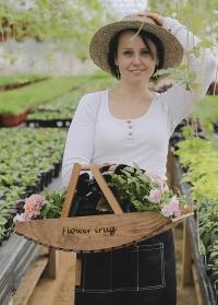 Деревянная корзина для цветов для сада и дачи от Esschert Design NG80 фото