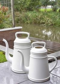 Садовая лейка-кофейник 12 литров для полива цветов Lungo Light Grey Xala фото.jpg