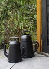 Дизайнерская пластиковая лейка для полива цветов 8 литров Lungo Black от Xala картинка