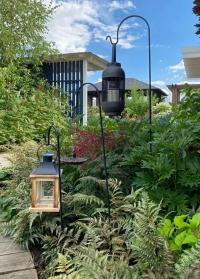 Садовые кронштейны для подвесных кашпо и фонарей высокие вставляются в грунт Smart Garden фото